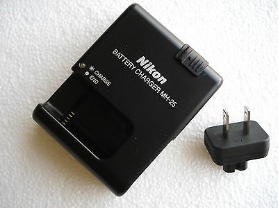 Genuine Original OEM NIKON EN-EL15 Battery Charger MH-25 + Wall Plug