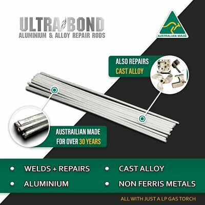 Aluminium and cast alloy repair rods Ultra Bond 5pc pack Brazing, Soldering, ...