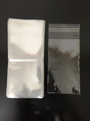 200  3x5 Clear Poly Bags w/Self-seal Lip and Tape 1.5 mil Pack FREE SHIPPING