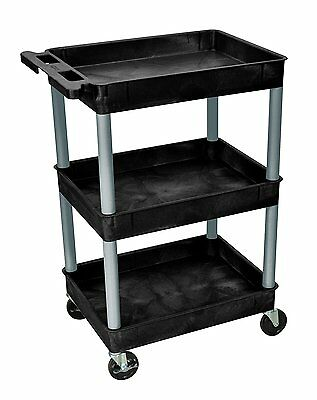 Luxor BKSTC111-N Tub Cart With Three Shelves, Carries Weight Up To 300 lbs New