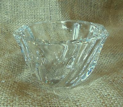 Orrefors Crystal Residence Pattern Vase Designed By Olle Alberius Signed