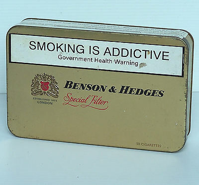 Rare Collectable Tin For Benson & Hedges Special Filter 50 Cigarettes Pack