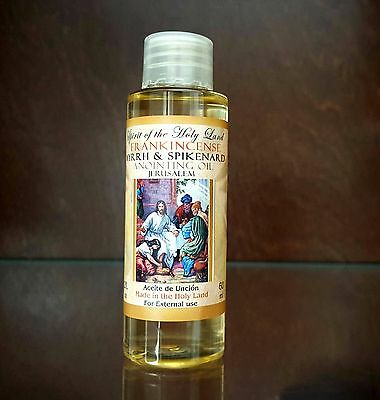 HOLY ANOINTING OIL Frankincense Myrrh & Spikenard From Jerusalem Holy Land 60 ml