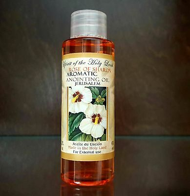 Rose Of Sharon ANOINTING OIL Aromatic Oil Blessed in Jerusalem Holy Land 60 ml