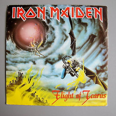 "Iron Maiden Flight of Icarus Blue Label 1983 Nr Mint UK 7"" single NM/NM"