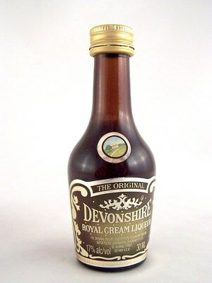 Miniature circa 1990 DEVONSHIRE ROYAL CREAM LIQUEUR Isle of Wine