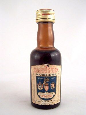 Miniature circa 1976 STOCK CHERRISTOCK LIQUEUR Isle of Wine