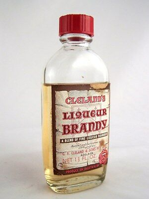 Miniature circa 1966 CLELANDS LIQUEUR BRANDY Isle of Wine