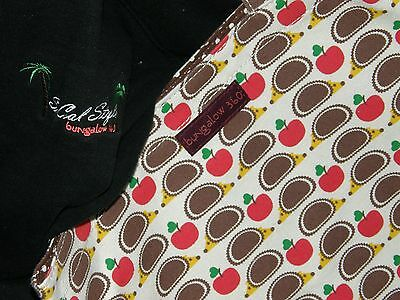 Bungalow 360 Übër Cute Hedgehog & Apples Reversible Tote! Hidden Pocket!  3