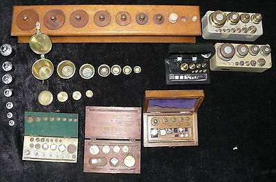 Large Collection Of Antique Scale Weights