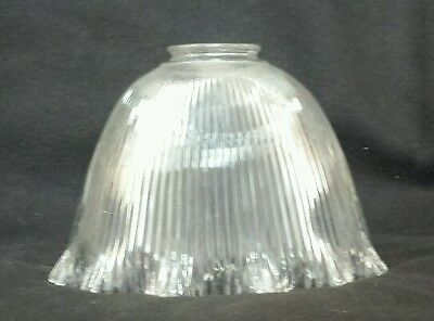 Vintage Holophane style Steampunk Ribbed Glass Lamp/Light Shade (#1)