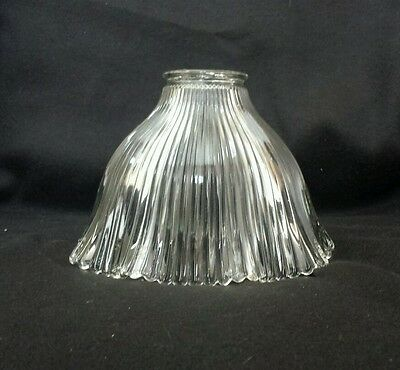 Sm. Vintage Holophane style Steampunk Ribbed Glass Lamp/Light Shade (#3)