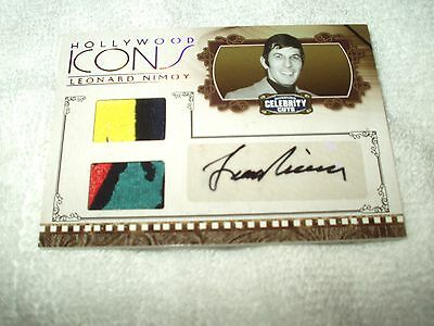 Hollywood Icons Autograph & Costume Relic Card Leonard Nimoy 5/10