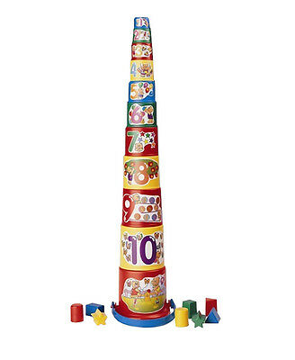 Stacking Cup with Shape Sorter Set 20 pc. by Megcos NEW