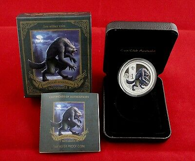 "$ 1 Silver Proof Coin "" Werewolf "" 2013  -  Australia Perth Mint"