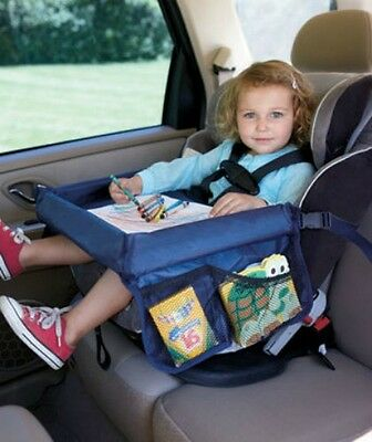 Car Seat Snack Food Drink Toy Play Reading Tray Travel Storage Holder Child Kid