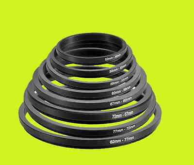 52-55mm 52mm-55mm 52 to 55 Metal Step Up Lens Filter Ring Stepping Adapter