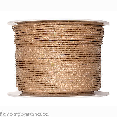 Paper Cord Internally Wired Natural 2mm Wide x 100m Reel
