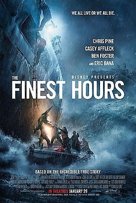 THE FINEST HOURS Movie Poster - Original - DS - 27x40 - FINAL - CHRIS PINE