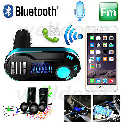 Wireless FM Transmitter Car AUX-In Audio Mp3 Player Charger Kit For Mobile Phone