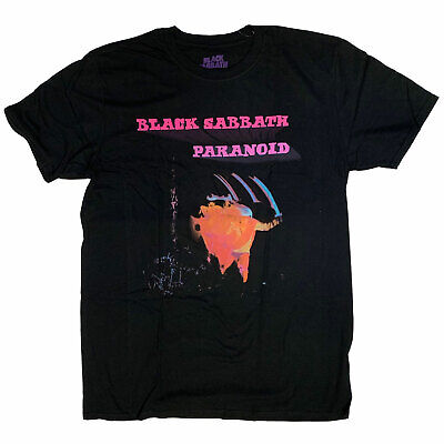 Black Sabbath T Shirt - Paranoid 100% Official Full Screen Print Ozzy Classic