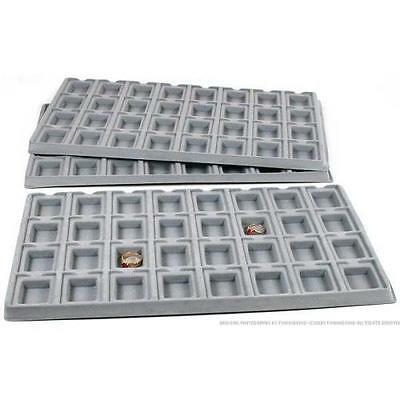 Earring Tray Insert 32 Slot Puff Cards white  Flock 3pc (white color only)