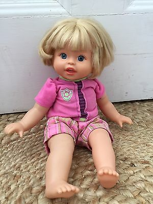 Retired Fisher Price Little Mommy Blonde Baby Doll 2006 With Outfit