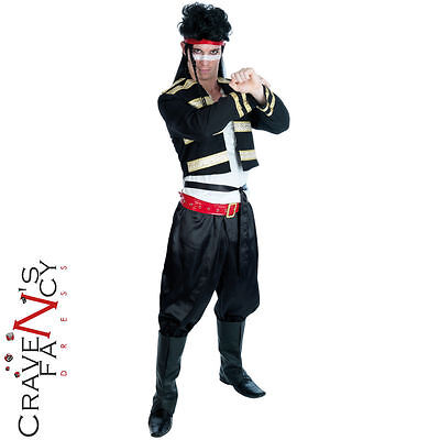 80's Adam Ant Fancy Dress Costume New Romantic Mens Prince Charming Pop Star
