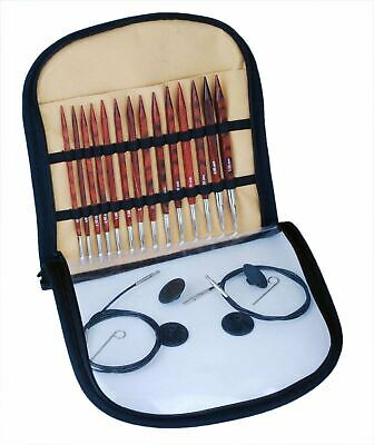 KnitPro Cubics Symfonie Rose Wood Deluxe Interchangeable Circular Knitting Set