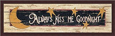 MA588 Framed or Plaque By Marla Rae Art Print Always Kiss Me Goodnight