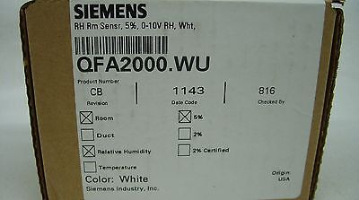 Siemens - Hvac Automation Indoor Humidity Sensor 5% 0-10V ~  Qfa2000.wu *new*