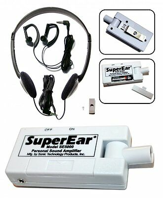 Sonic Super Ear SE5000 Sonic Technology Personal Sound Amplifier 50+dB