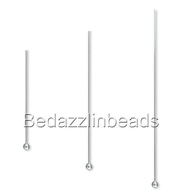 Lot of 50 Surgical Stainless Steel 24 Gauge 0.51mm Headpins w/ Ball End Findings
