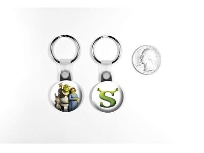 Shrek Ogre Swamp Mike Myers Animated Logo Kids Set of 2 Key Chains