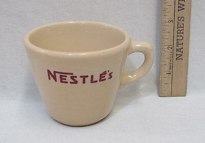 Vintage Nestles Coffee Cup Mug Inca Ware Stoneware Shenago China New Castle PA