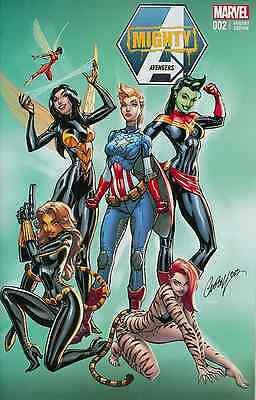 Mighty Avengers 2 Rare Cosplay J Scott Campbell 2013 Nycc Limited Variant Nm