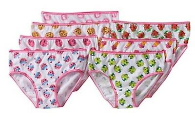 SZ 8  7 Pack Shopkins Girls Briefs Underwear Panties Cotton Lippy Kooky D'Lish
