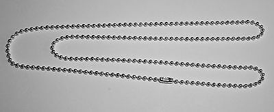 """50 Silver Plated 24"""" Long Ball Chain Necklace with Connector - FREE SHIPPING"""