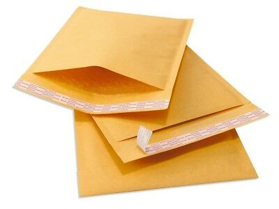 """250 #000 4x8 Kraft Paper Bubble Padded Envelopes Mailers Shipping Case 4""""x8"""""""