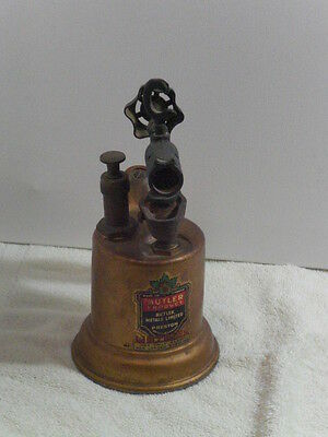 Antique Butler Metal Limited Non Leaded Gasoline Blow Torch Preston Ontario