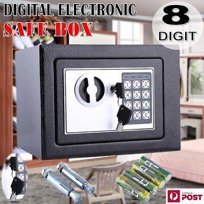 6.4L Personal Small Digital Electronic Safe Box Keypad Lock Home Office Security