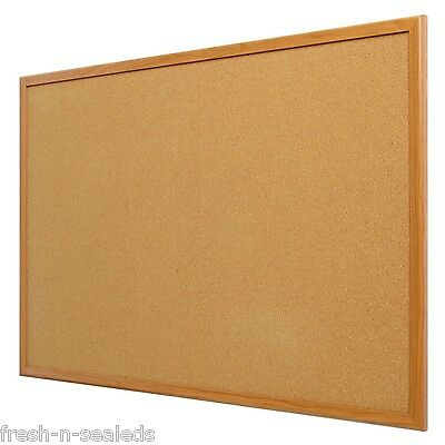 Bulletin Board Cork Vision Pinboard Reminder Office Business Notice Note Oak