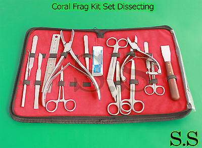 Coral Frag Kit Set Dissecting Fragging Propagation Reef Hard Soft Coral S.S-622