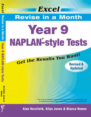 Excel Revise in a Month NAPLAN-Style Tests Year 9 NEW 9781741252101