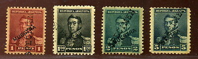 Argentina 1892 San Martin Specimens From British Post Office