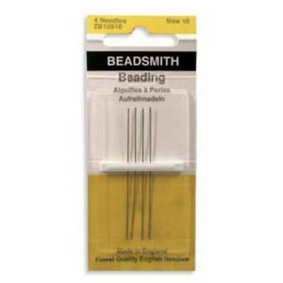 Four Size 10 Beadsmith/John James English Beading Needles
