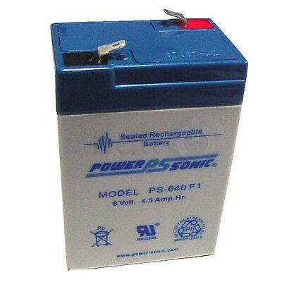 PS640 6V 4.5AH (4AH) Sealed Rechargeable Battery brand POWERSONIC