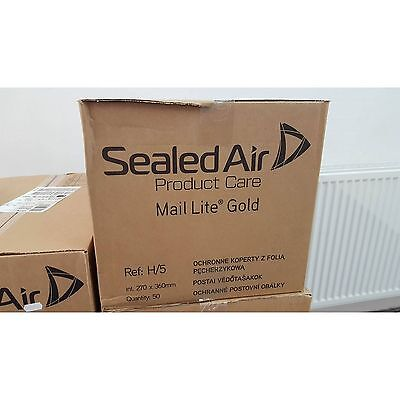 100 X G//4 MAIL LITE SEALED AIR PADDED ENVELOPES 240 x 330mm GOLD BROWN