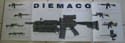 Diemaco M4 M16 rifle poster fold out - Rare