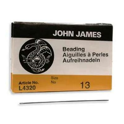 Twenty-Five Size 13 John James English Beading Needles